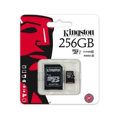 Cartão Memória Kingston Micro SD 256GB Preto (CLASS 10)