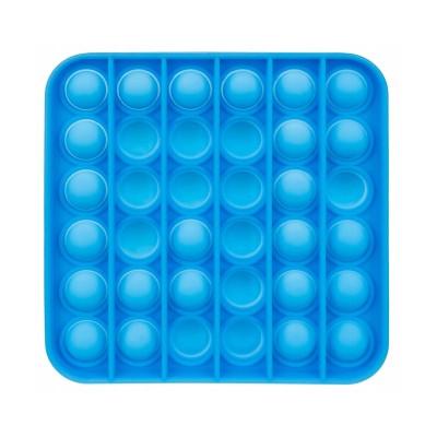 Brinquedo Sensorial de Bolhas Quadrado Push Azul