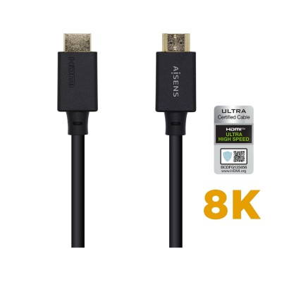 HDMI Cable Aisens Ethernet 8K 1m Black (A150-0421)