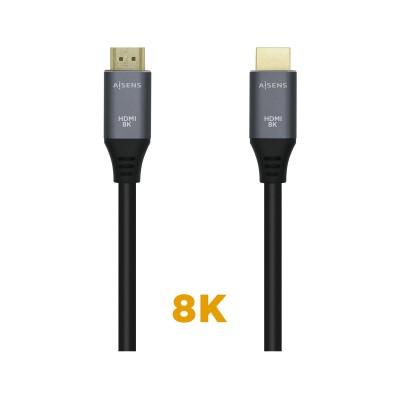 HDMI Cable Aisens Ethernet 8K 0.5m Ash/Black (A150-0425)