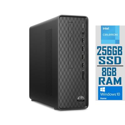 Desktop HP Slim Celeron J4025 SSD 256GB/8GB Black (S01-AF1006NS)