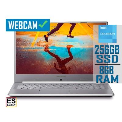 "Laptop Medion Akoya E6247 15"" Celeron N4020 SSD 256GB/8GB Silver"