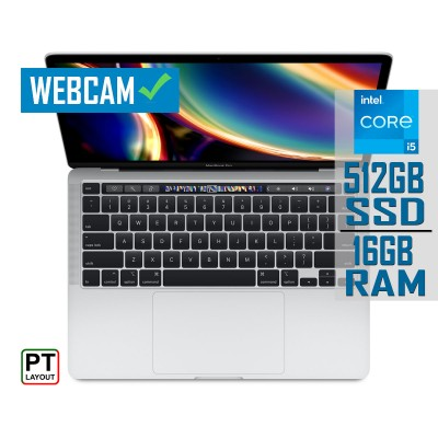"""Laptop MacBook Pro 13"""" Touch Bar Core i5 SSD 512GB/16GB Silver (MWP72PO/A)"""