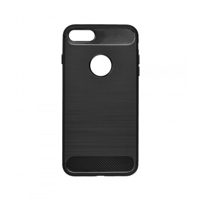 Silicone Cover Forcell Carbon Apple 7/8 Plus Black