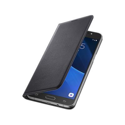 Original Flip Cover Case Samsung J7 2016 Black (EF-WJ710PBE)