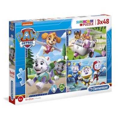 Puzzle Paw Patrol 3x 48 Pieces