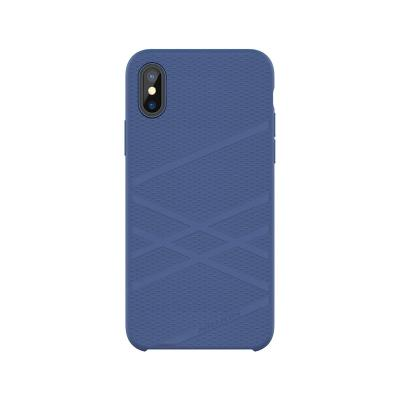 CAPA SILICONE NILLKIN FLEX CASE IPHONE X/XR AZUL