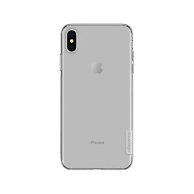SILICONE COVER NILLKIN IPHONE XS MAX TRANSPARENT DARK