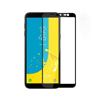 Fullscreen Tempered Glass Film Samsung J6 2018 J600 Black