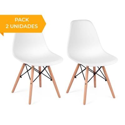 Scandinavian Chair Sofotel Delta White (2 Units)