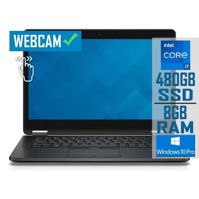 "Laptop Dell Latitude E7470 14"" Touch i7-6600U SSD 480GB/8GB Refurbished"