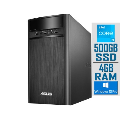 Desktop Asus K31ADE i3-4170 GT 710 SSD 500GB/4GB Refurbished