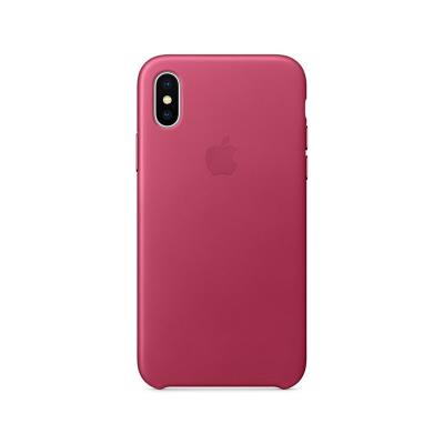 Funda Hard Leather Case Original iPhone X / XS Rosa (MQTJ2ZM/A)