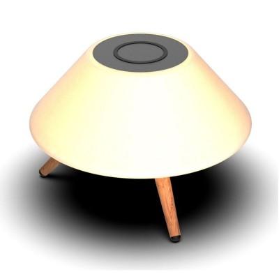 Lámpara inalámbrica KSIX OMNI con altavoz bluetooth