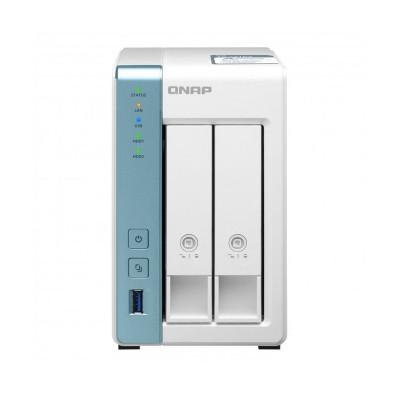 NAS QNAP TS-231P3-4G Alpine AL-314 4GB 2 Bays White