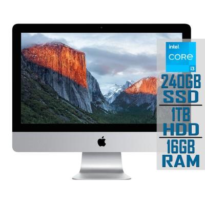"Apple iMac A1418 21"" i3 3.3GHz SSD 240GB+1TB/16GB Refurbished"