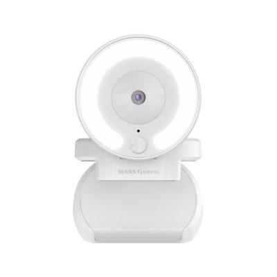 Webcam Mars Gaming MWPRO FHD c/Microfone Branca
