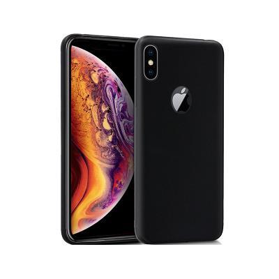 Capa Silicone iPhone XS Max Preta