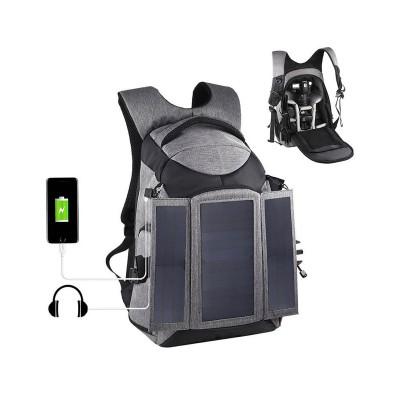 Mochila Puluz para Câmara c/Painel Solar 14W Cinzenta (PU5012H)