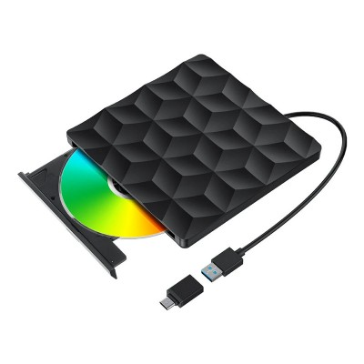 Drive Ótica Externa Bliztwolf BW-VD1 USB 3.0/USB-C Preta
