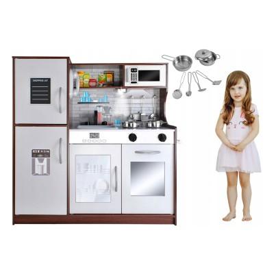 Play Kitchen Kruzzel XXL w/Accessories Brown (9150)