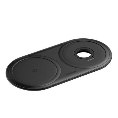 Wireless Charger Baseus Planet 2 em 1 24W Black