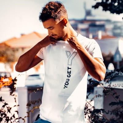 T-shirt You Get Casual Branca