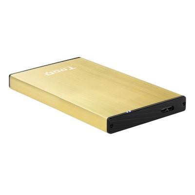 """HDD/SSD Enclosure TooQ TQE-2527GD 2.5"""" USB 3.1 Gold"""