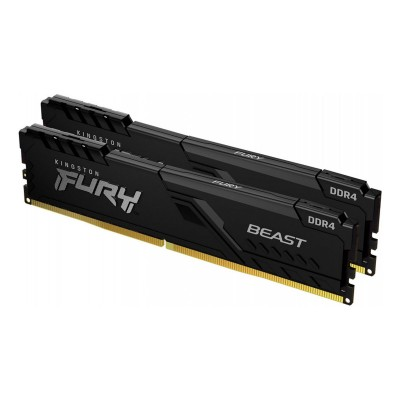 RAM Memory Kingston Fury Beast 16GB DDR4 (2x8GB) 3200Mhz (KF432C16BBK2/16)