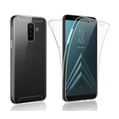 Front and Back Silicone Case Samsung Galaxy A6 Plus 2018 A605 Transparent