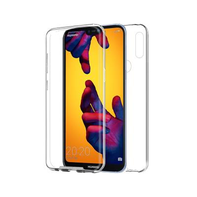 Front and Back Silicone Case Huawei P20 Lite Transparent