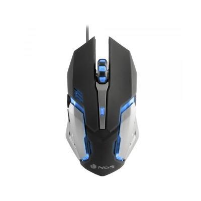 Ratón Gaming NGS GMX-100 2400 DPI RGB Negro