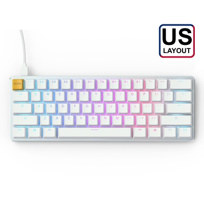 Mechanical Gaming Keyboard Glorious GMMK Compact White Ice Edition White