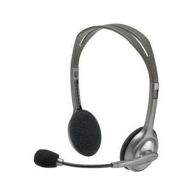 Headset Logitech Stereo H110 Cinzento (981-000271)