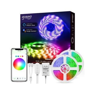 Fita de LED Smart Gosund SL3 RGB c/Wi-Fi 10m