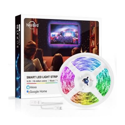 Smart LED strip NiteBird SL1 RGB w/Wi-Fi 2.8m