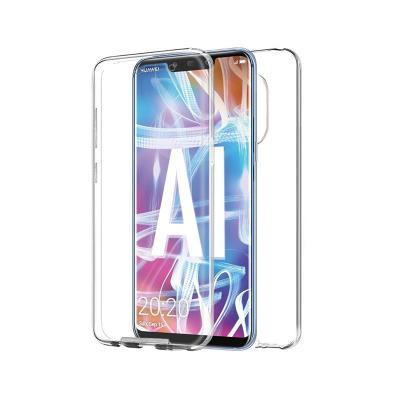 Front and Back Silicone Case Huawei Mate 20 Lite Transparent