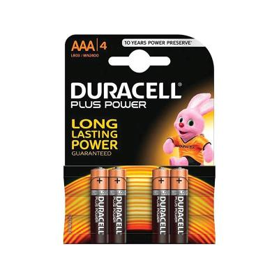 Pilhas Duracell Plus Power AAA Pack 4