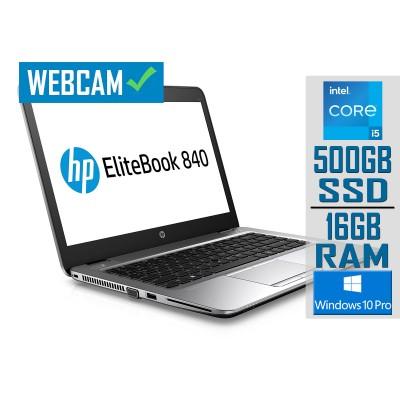 "Laptop HP EliteBook 840 G3 14"" i5-6300U SSD 500GB/16GB Refurbished"