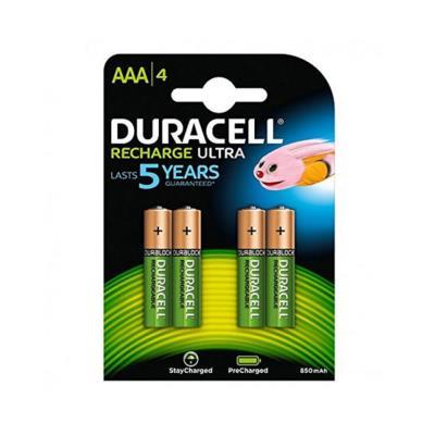 Pilhas Duracell Recarregavel Ultra AAA Pack 4 (HR03)