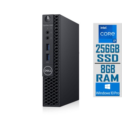 Torre Dell OptiPlex 3060 Micro i7-8700T SSD 256GB/8GB Recondicionado