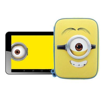 "Tablet E-Star 7"" 8GB Tema Minions Kevin Com Bolsa 3D"