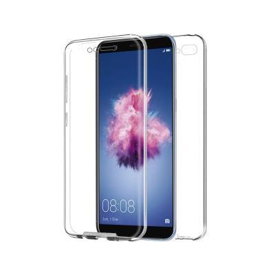 Capa Silicone Frente e Verso Huawei P Smart Transparente
