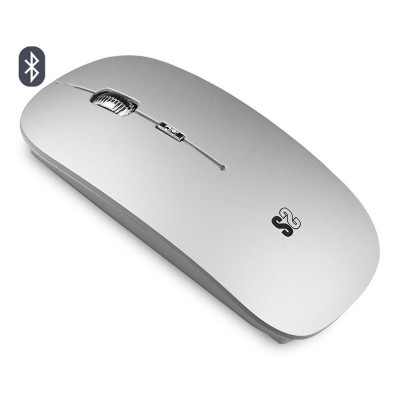 Wireless Mouse Subblim Flat Bluetooth Silver