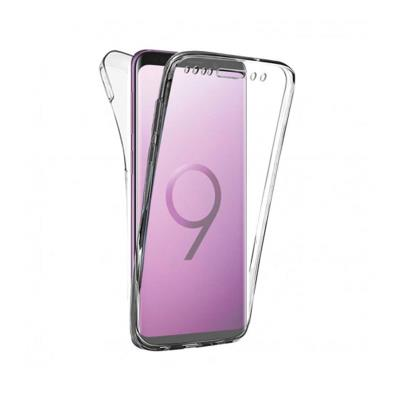 Front and Back Silicone Case Samsung S9 Transparent