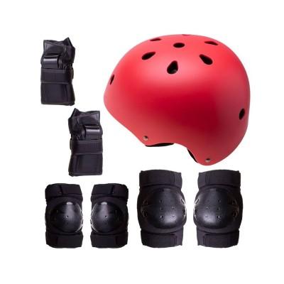 Conjunto de Proteção p/Patins, Skate, Bicicleta Tamanho M Vermelho (Unidade de Exposição)