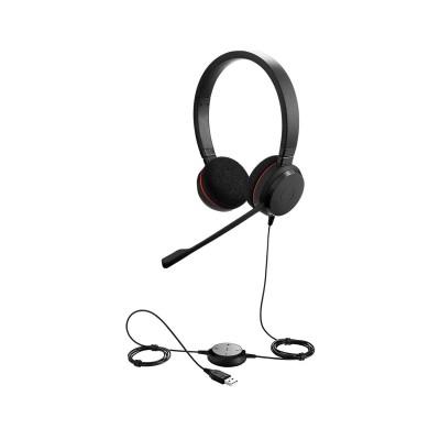 Headset Jabra Evolve 20 UC Stereo Black (4999-829-209)
