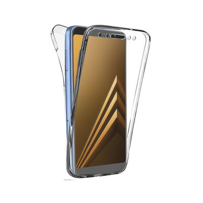 Front and Back Silicone Case Samsung A5/A8 2018 Transparent