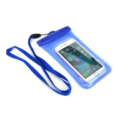 """Waterproof Mobile Phone Case 4.5""""- 5.5"""" Blue"""