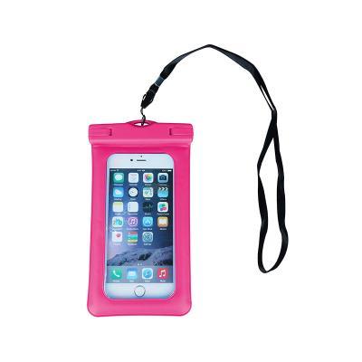 """Waterproof Mobile Phone Case 4.5""""- 5.5"""" Pink"""